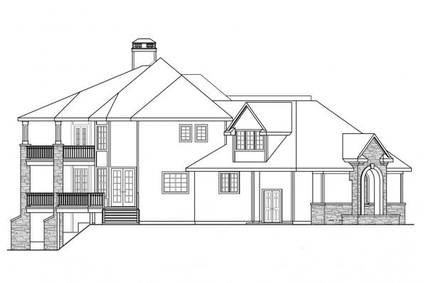 Classic House Plan - Addison 30-795 - Left Elevation