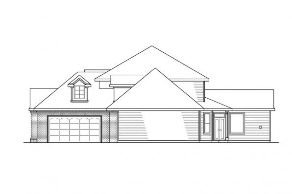 Classic House Plan - Aroland 30-121 - Right Elevation