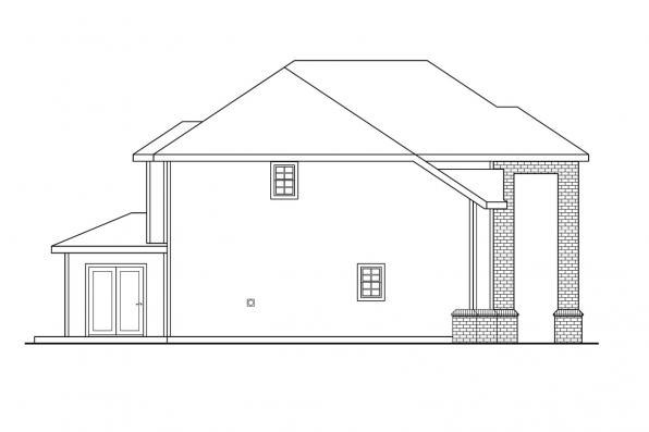 Classic House Plan - Arolee 30-142 - Left Elevation