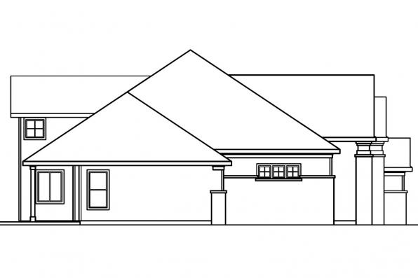 Classic House Plan - Bethany 30-272 - Left Elevation