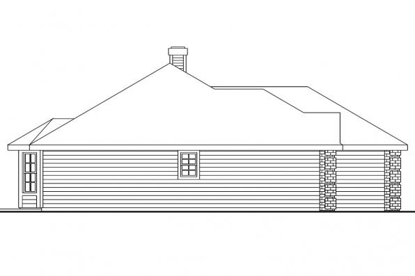 Classic House Plan - Binglsy 30-532 - Left Elevation