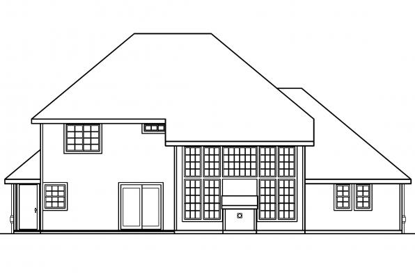 Classic House Plan - Coleridge 30-251 - Rear Elevation