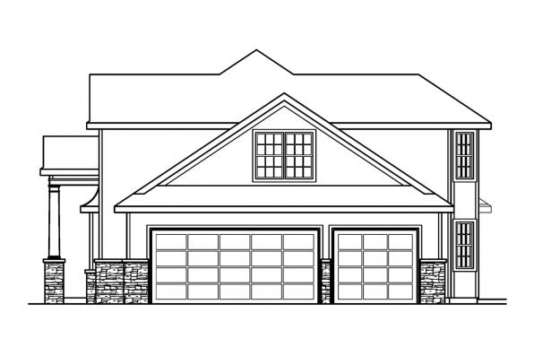 Classic House Plan - Crestwick 30-425 - Right Elevation