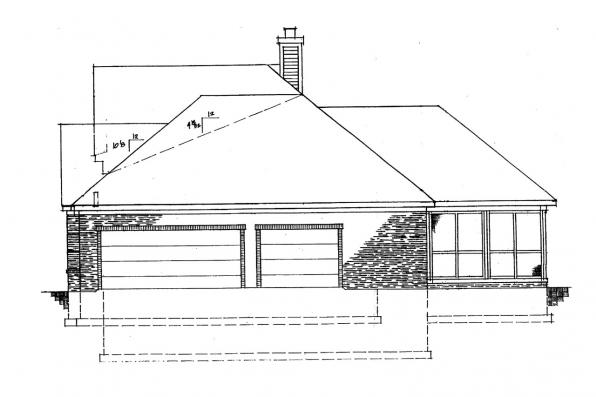 Classic House Plan - Ingraham 42-016 - Right Elevation