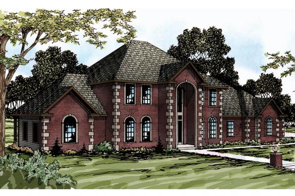 Classic House Plan - Kersley 30-041 - Front Elevation