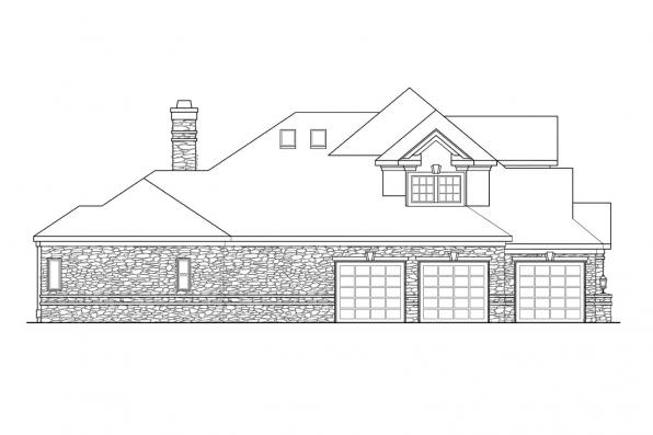 Classic House Plan - Macleod 30-120 - Left Elevation