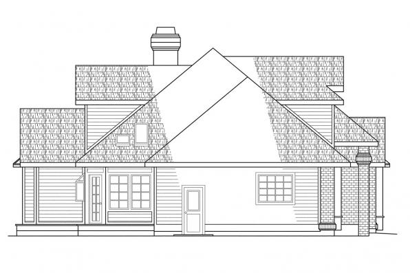 Classic House Plan - Melrose 10-047 - Left Elevation