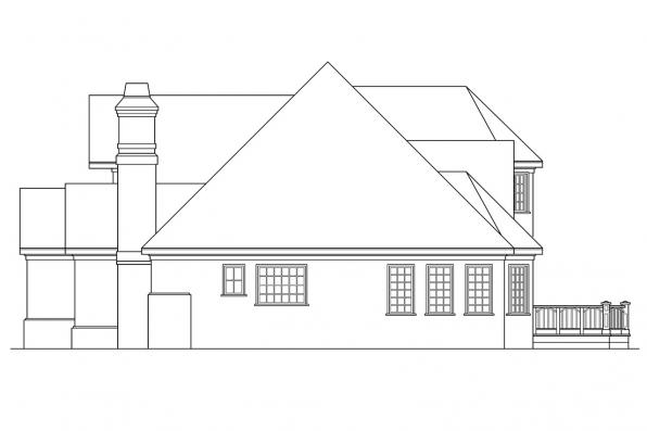 Classic House Plan - Montpellier 30-027 - Right Elevation