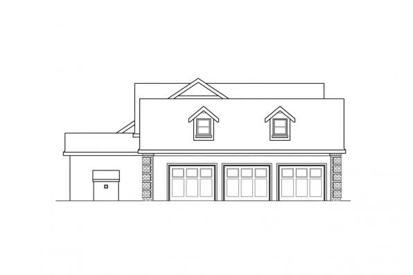 Classic House Plan - Noranda 30-123 - Left Elevation