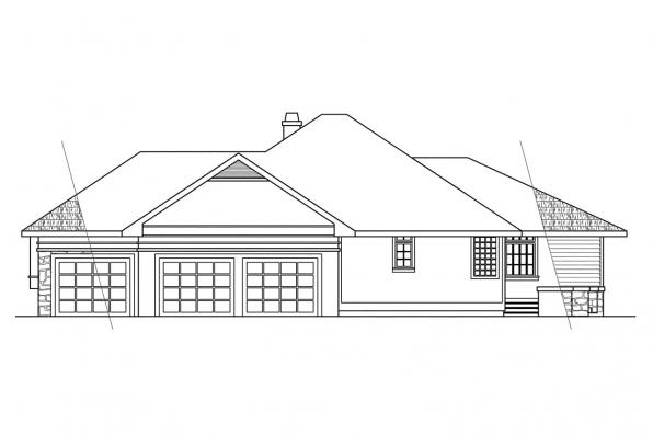 Classic House Plan - Stonecrest 10-054 - Right Elevation