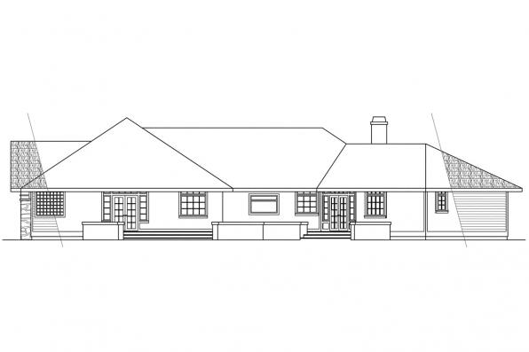 Classic House Plan - Stonecrest 10-054 - Rear Elevation