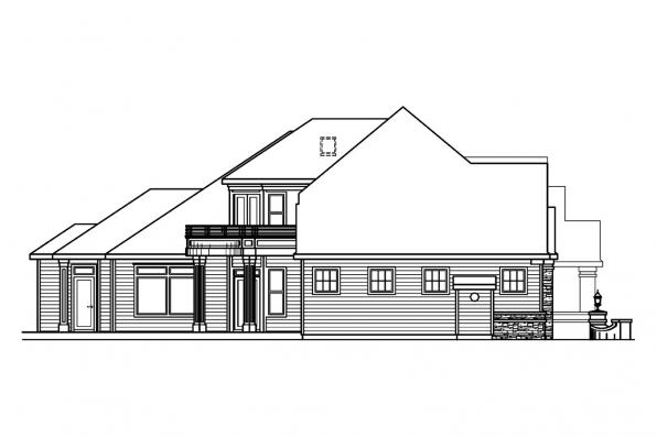 Classic House Plan - Stonehaven 30-465 - Left Elevation