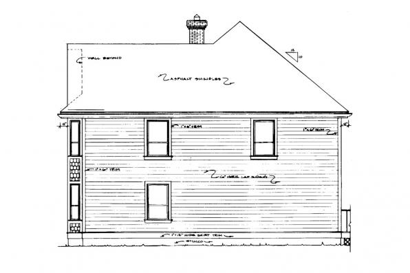 Colonial House Plan - Astoria 41-009 - Right Elevation