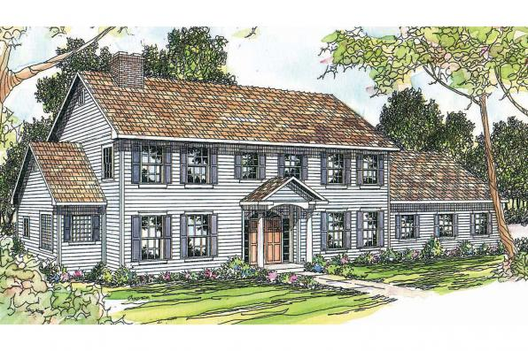 Colonial House Plan - Kearney 30-062 - Front Elevation