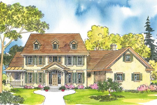 Colonial House Plan - Palmary 10-404 - Front Elevation