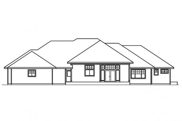 Contemporary House Plan - Belvedere 30-280 - Rear Elevation