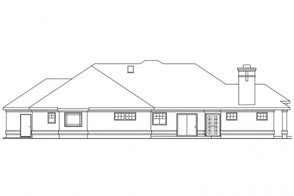 Contemporary Home Plan - Rosewood 10-402 - Rear Elevation