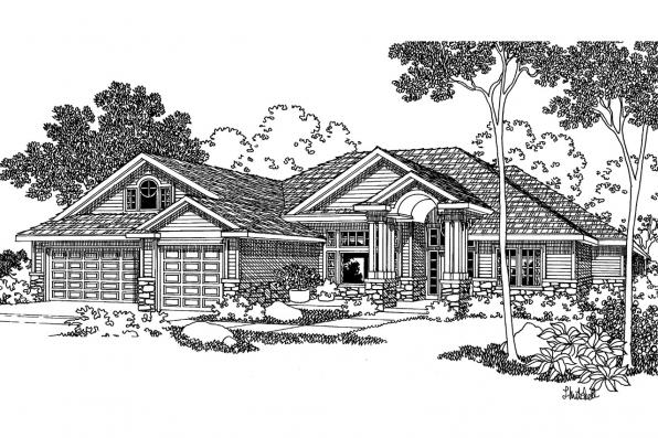 Contemporary House Plan - Asbury 30-237 - Front Elevation