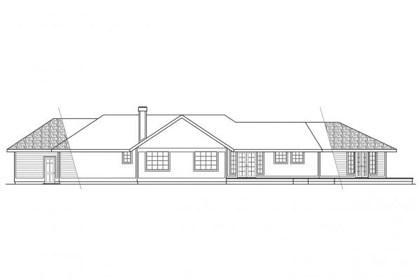 Contemporary House Plan - Bainbridge 10-049 - Rear Elevation