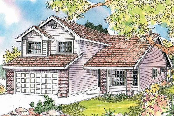 Contemporary House Plan - Blanchard 30-550 - Front Elevation