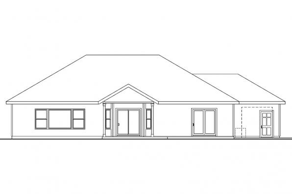 Contemporary House Plan - Chadbryne 30-577 - Rear Elevation