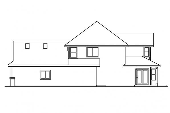 Contemporary House Plan - Edmonton 30-342 - Right Elevation
