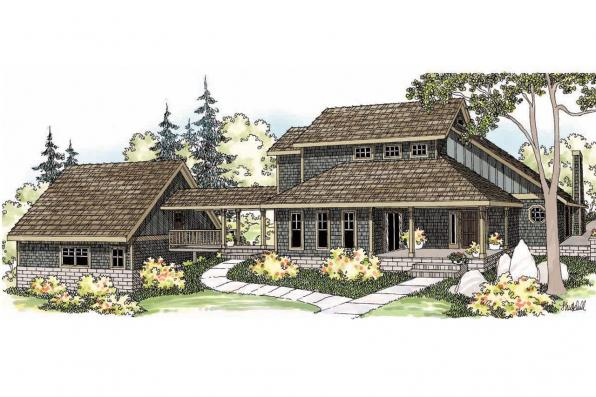 Contemporary House Plan - Fairview 51-008 - Front Elevation