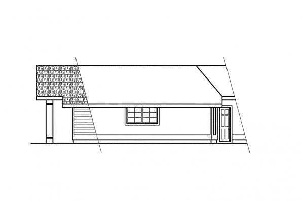 Contemporary House Plan - Linwood 10-039 - Right Elevation