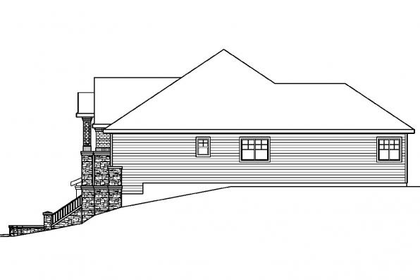 Contemporary House Plan - Pennington 30-602 - Right Elevation