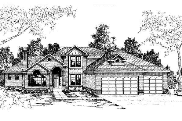 Contemporary House Plan - Providence 10-305 - Front Elevation