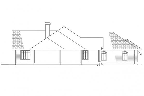 Contemporary House Plan - Raleigh 10-002 - Left Elevation