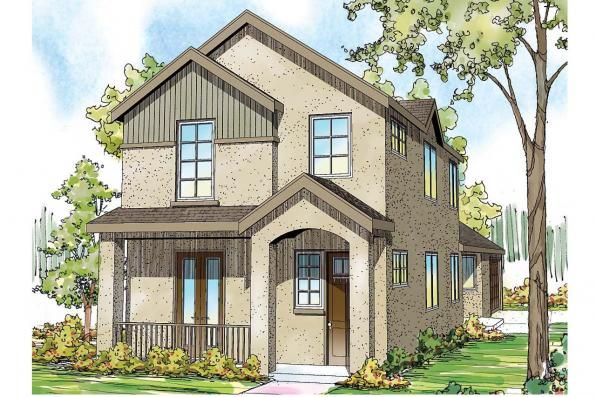 Contemporary House Plan - Rock Creek 30-821 - Front Elevation