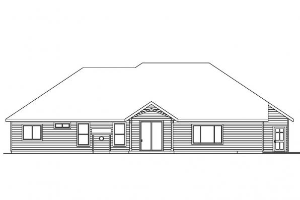 Contemporary House Plan - Spencer 30-537 - Rear Elevation