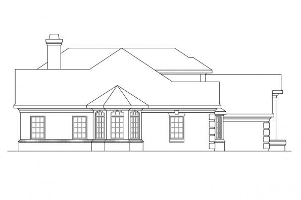 Contemporary House Plan - Wichita 10-254 - Left Elevation