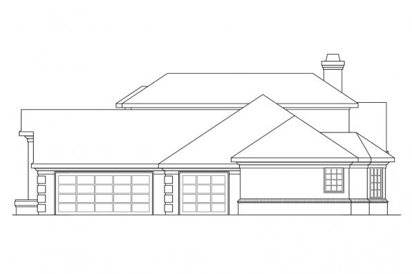Contemporary House Plan - Wichita 10-254 - Right Elevation