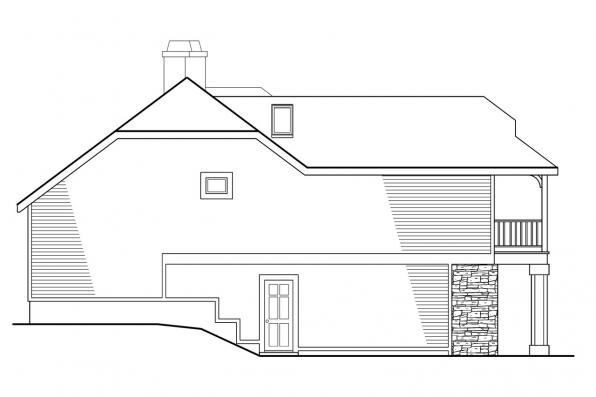 Contemporary House Plan - Winchester 30-003 - Left Elevation