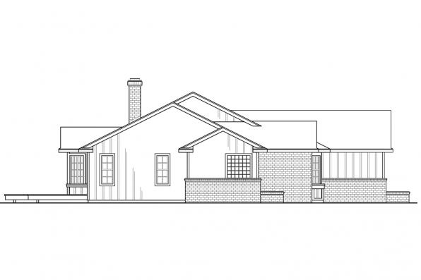 Corner Lot House Plan - Eastport 10-548 - Left Elevation