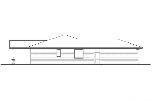 Corner Lot House Plan - Wasco 31-106 - Left Elevation