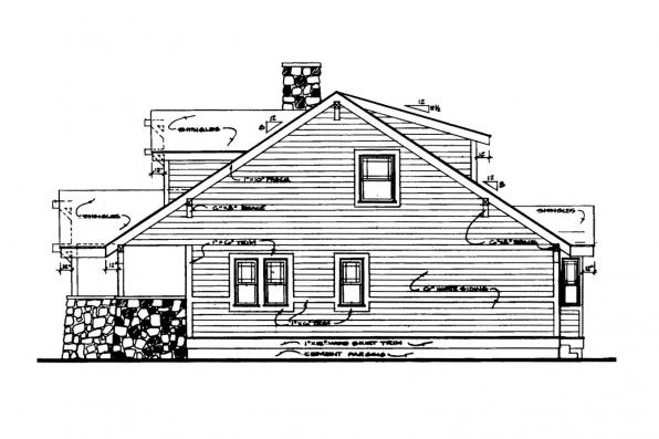 Cottage House Plan - Alhambra 41-001 - Right Elevation