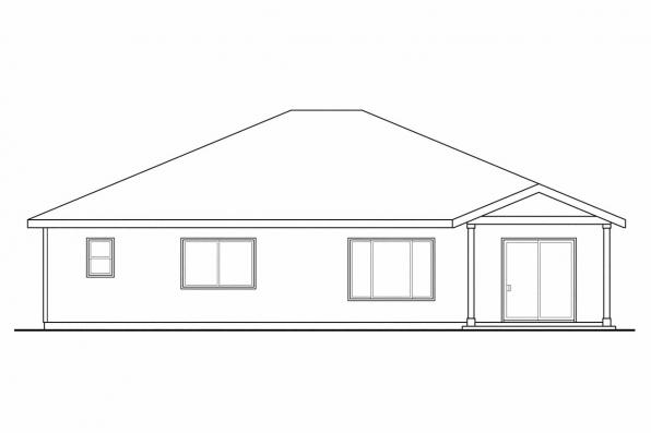 Cottage House Plan - Bandon 30-758 - Rear Elevation