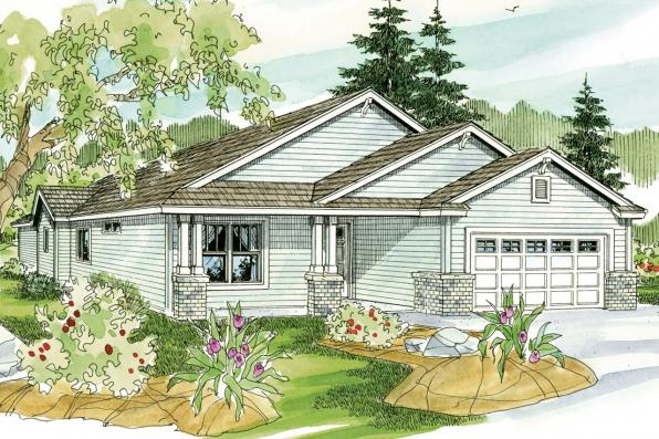 Cottage House Plan - Barlow 30-694 - Front Elevation