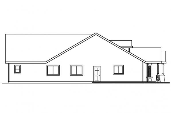 Cottage House Plan - Bergstrom 30-206 - Left Elevation