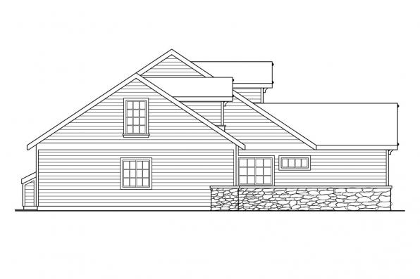 Cottage House Plan - Binghamton 10-259 - Left Elevation