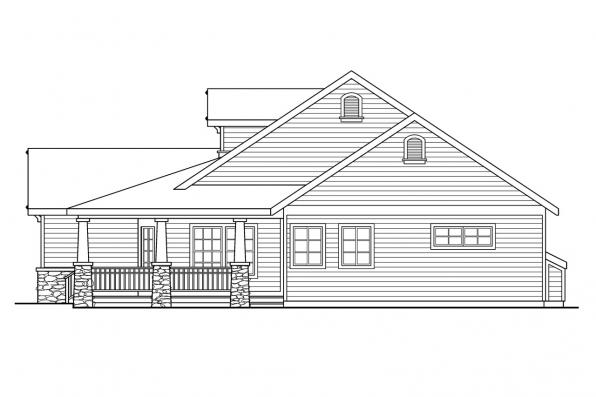 Cottage House Plan - Binghamton 10-259 - Right Elevation