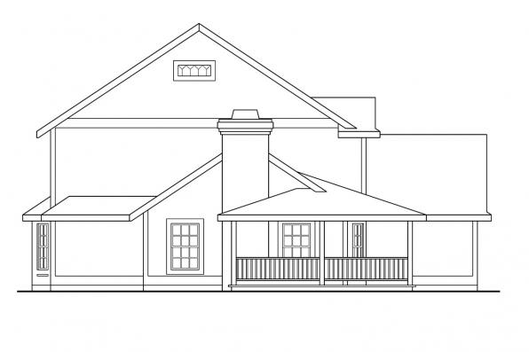 Cottage House Plan - Bristol 10-184 - Left Elevation
