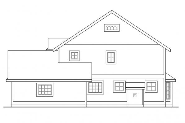 Cottage House Plan - Bristol 10-184 - Right Elevation