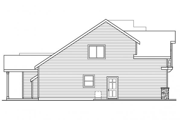 Cottage House Plan - Brookside 30-613 - Left Elevation