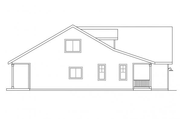 Cottage House Plan - Brookview 30-055 - Left Elevation