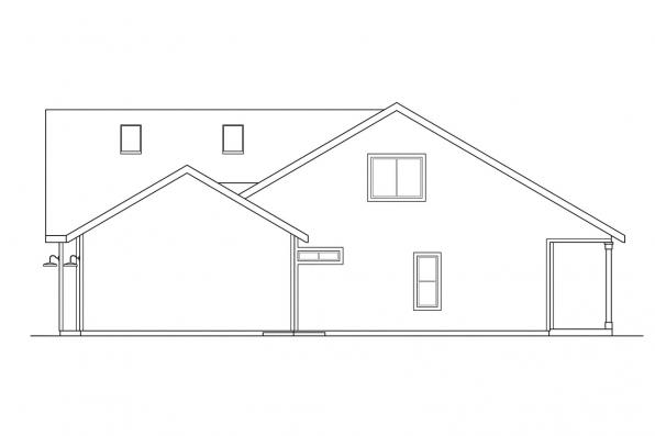 Cottage House Plan - Brookview 30-055 - Right Elevation