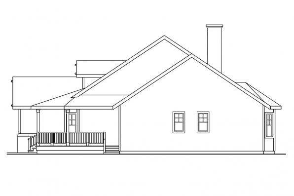 Cottage House Plan - Clearheart 10-410 - Right Elevation
